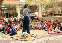 Grupo Casco de Tartaruga faz contação de histórias (foto: divulgação)