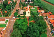 Vista aérea do distrito de Tanquinho (foto: reprodução)